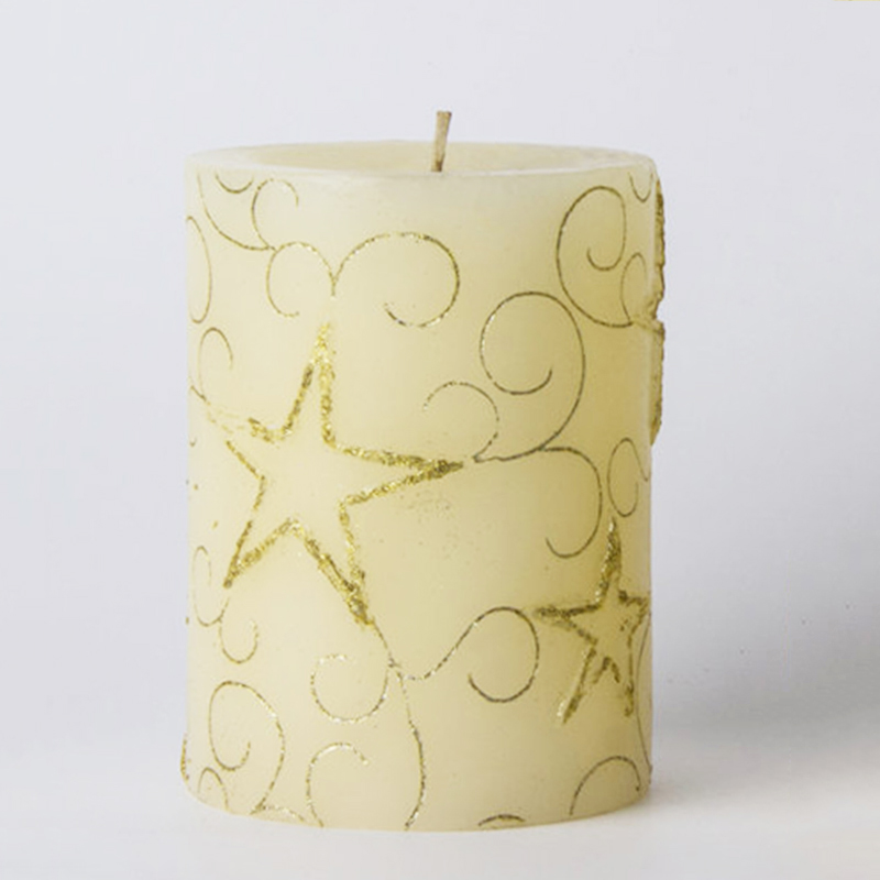 Candle wholesaler white pillar candles with own brand name packaging customized different sizes and colors for home decor